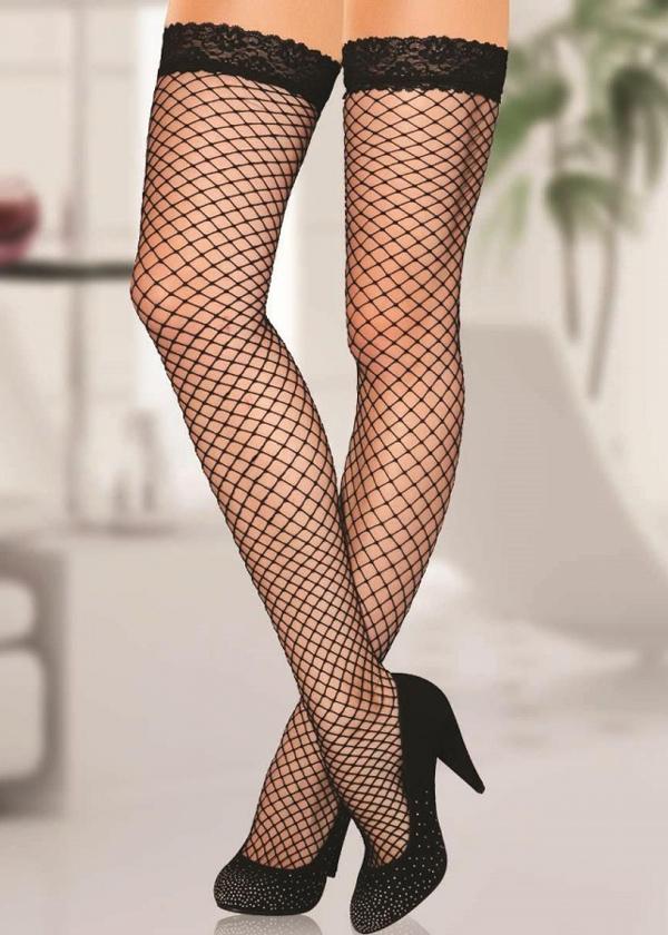 Angels Passion Dantelli File Desenli Jartiyer Çorabı